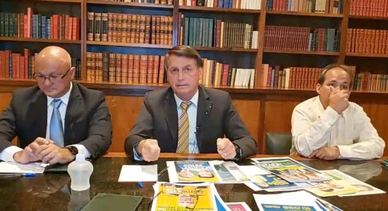 Presidente Jair Bolsonaro em live eleitoral