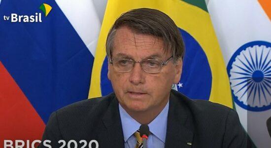 Bolsonaro discursa durante reunião na Cúpula do Brics