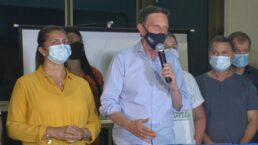 Crivella fez discurso após resultado da eleição ser divulgado