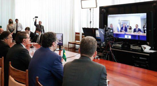 Encontro entre o presidente Jair Bolsonaro e o presidente da Argentina,  Alberto Fernández