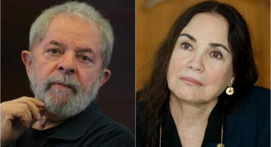 Luiz Inácio Lula da Silva e Regina Duarte lado a lado