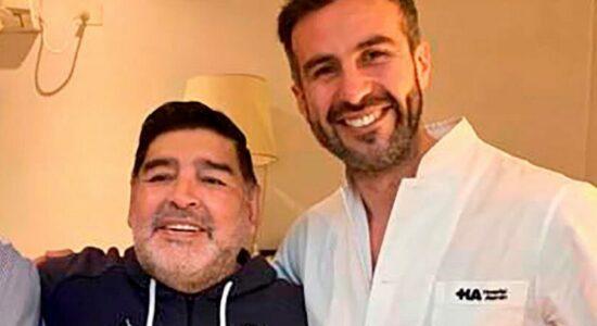 Diego Maradona e seu médico particular, Leopoldo Luque