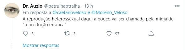 Internautas criticaram Caetano por fala sobre