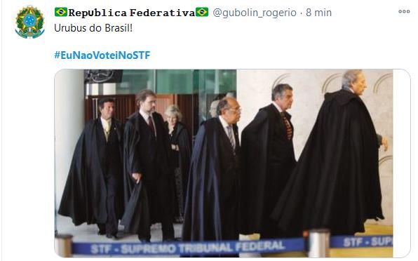 Web se revolta e manda recado #EuNaoVoteiNoSTF