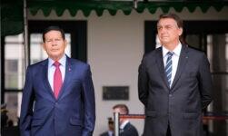 Presidente Jair Bolsonaro e vice-presidente Hamilton Mourão
