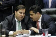 Presidentes da Câmara dos Deputados e do Senado, Rodrigo Maia e Davi Alcolumbre, respectivamente