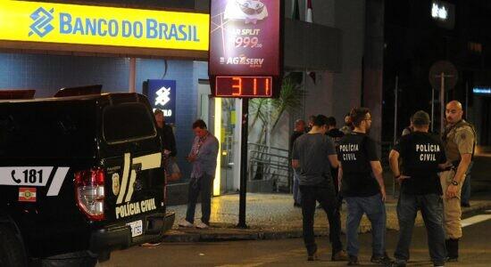 Criciúma foi alvo de roubo a banco ainda na madrugada de terça-feira
