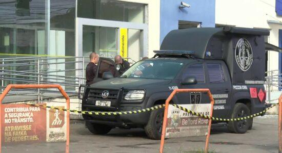 Esquadrão Antibombas foi chamada ao local para detonar artefato deixado pelos criminosos