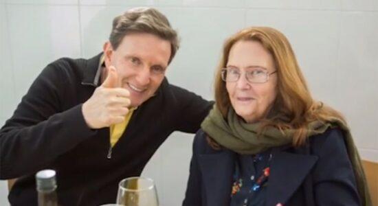 Marcelo Crivella ao lado da mãe, Eris Bezerra Crivella