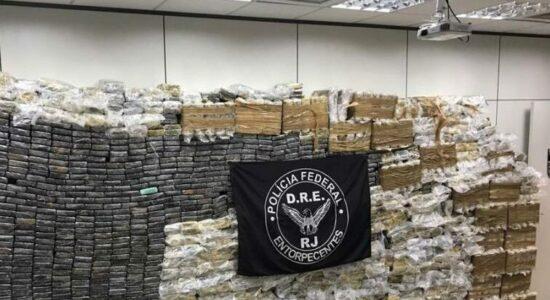 Polícia apreendeu cerca de 2,5 toneladas de droga no Rio de Janeiro