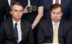Presidente Jair Bolsonaro e o ex-presidente da Câmara Rodrigo Maia