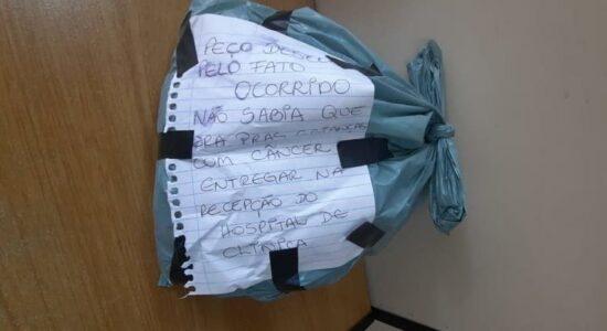 Ladrão pediu desculpas por ter levado mechas de cabelo que seriam doadas