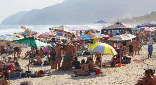 Praia de Maresias, em São Sebastião