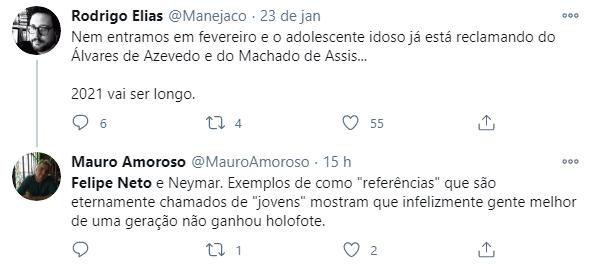 Felipe Neto critica Machado de Assis como leitura para jovens