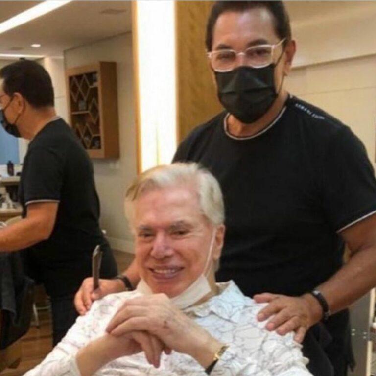 Silvio Santos pintou o cabelo