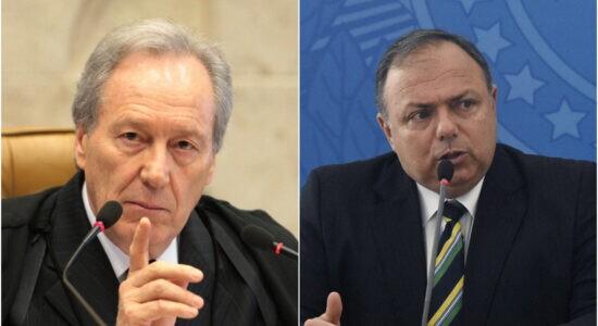 Ministro Ricardo Lewandowski, do STF, e ministro da Saúde, Eduardo Pazuello