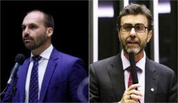 Eduardo Bolsonaro e Marcelo Freixo