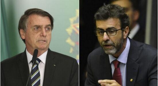 Presidente Jair Bolsonaro e deputado federal Marcelo Freixo