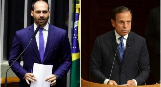 Eduardo Bolsonaro critica medida adotada pelo governador João Doria