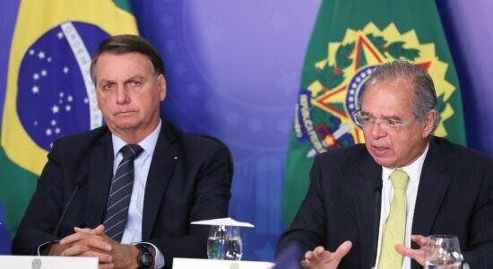 Presidente Jair e o ministro da Economia, Paulo Guedes
