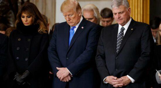 Donald Trump e o pastor Franklin Graham