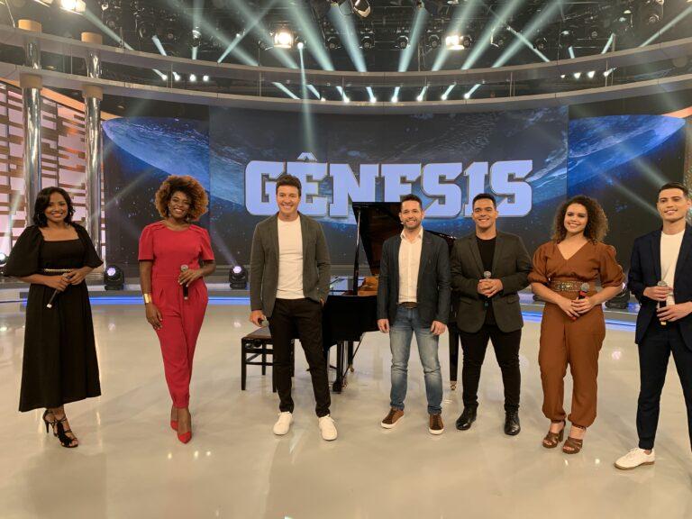 Pastor Lucas divulgou música Gênesis no programa de Rodrigo Faro