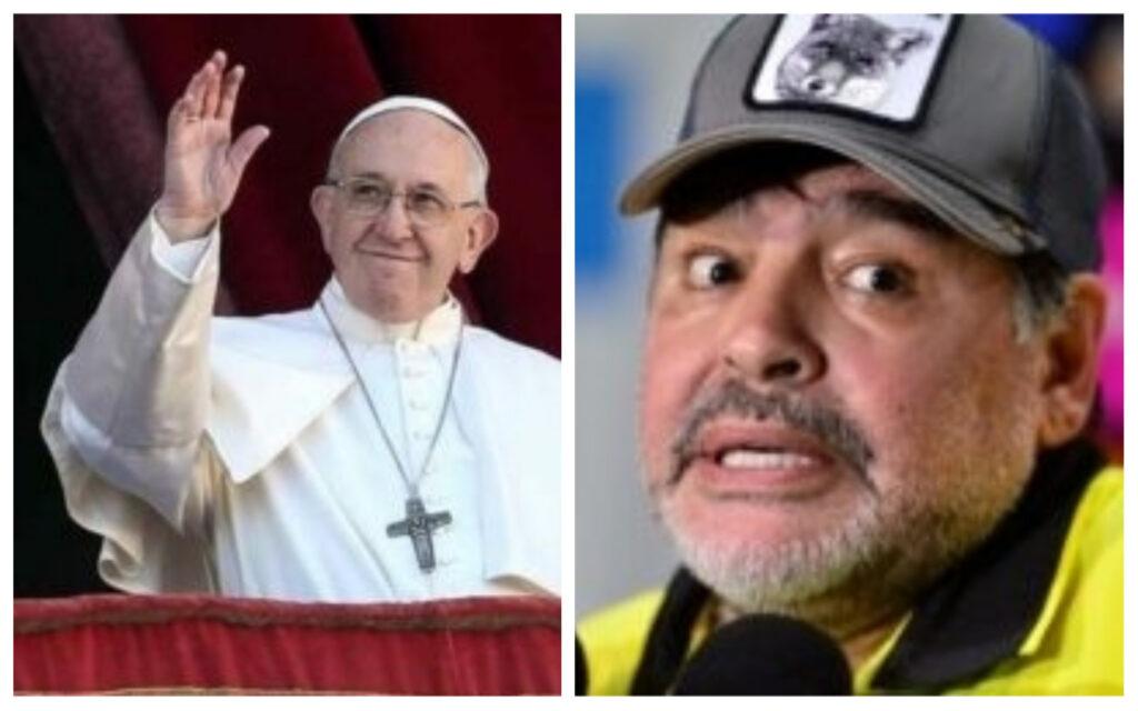 Nostálgico, Papa Francisco relembra Copa de 86, com Diego Maradona