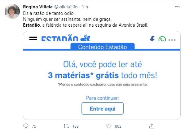 Internautas tiraram sarro de editorial do Estadão contra Bolsonaro