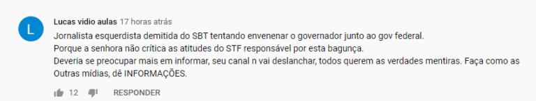 Sheherazade foi duramente criticada por imputar culpa do colapso no AM a Bolsonaro