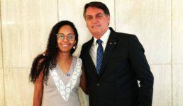Vereadora Sonaira Fernandes ao lado do presidente Jair Bolsonaro