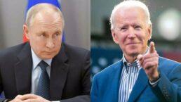 Joe Biden, presidente dos EUA e Vladmir Putin, presidente da Rússia