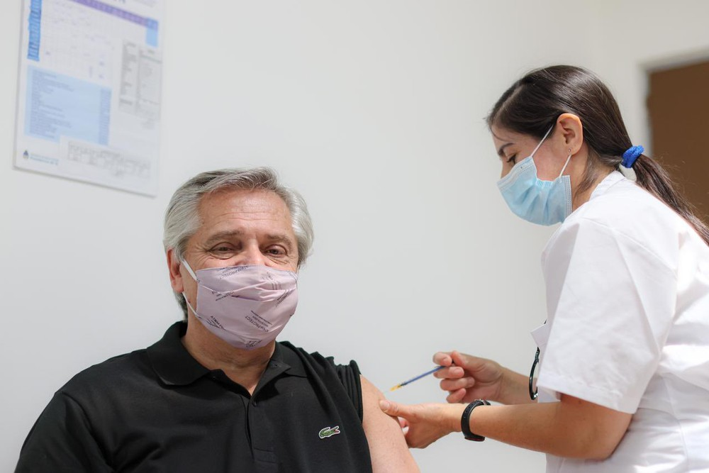 Presidente argentino foi imunizado com a Sputinik V