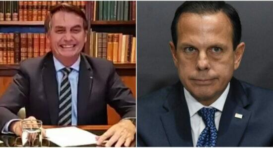 Presidente critica gestão de Doria frente à Covid-19