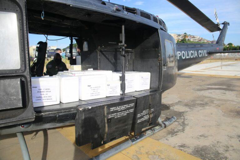 Secretaria de Saúde montou grande operação para todas as cidades receberem as doses no mesmo dia