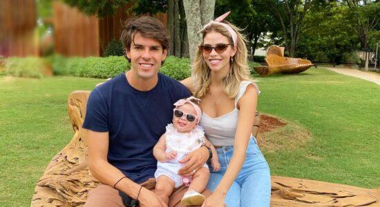 Kaká, Carol Dias e a filha