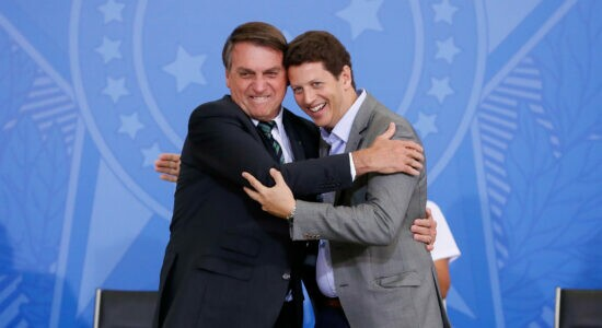 Presidente Jair Bolsonaro e o ministro do Meio Ambiente, Ricardo Salles
