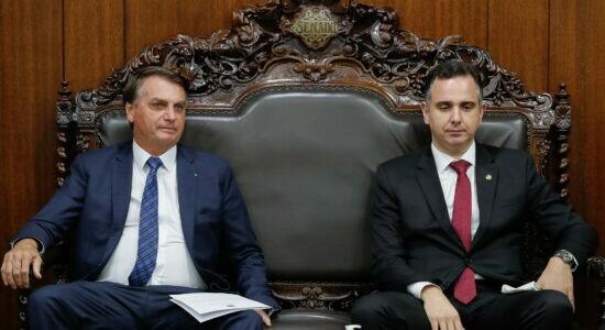 Presidente Jair Bolsonaro e o presidente do Senado, Rodrigo Pacheco