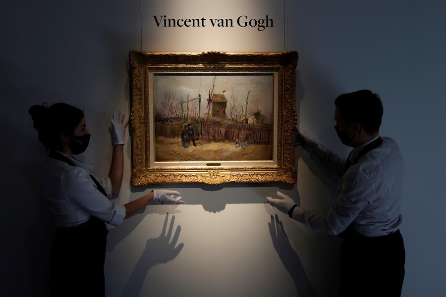 A Sotheby's Paris apresenta a obra de arte 'Scene de rue a Montmartre' de Vincent van Gogh