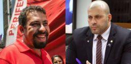 Guilherme Boulos e Daniel Silveira