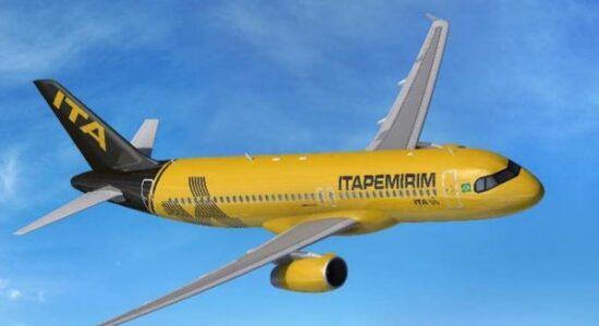 Avião da nova companhia aérea do Grupo Itapemirim