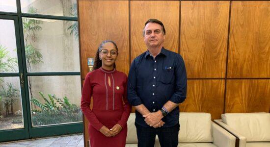 Vereadora Sonaira Fernandes e o presidente Jair Bolsonaro