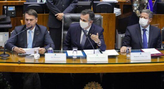 Presidente Jair Bolsonaro na abertura do ano legislativo