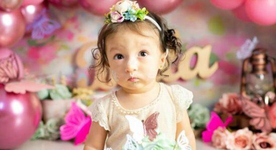 Bruna Karla celebra aniversário de um ano de sua filha, Bella