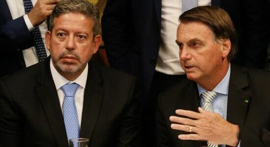 Presidente Jair Bolsonaro e o presidente da Câmara Arthur Lira