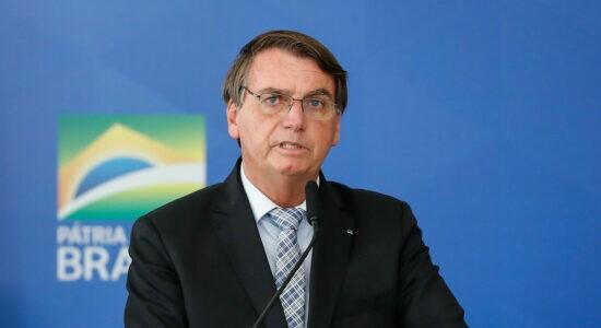 Bolsonaro sério irritado