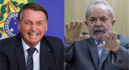 Presidente Jair Bolsonaro e ex-presidente Lula