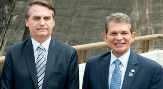 Presidente Jair Bolsonaro e Joaquim Silva e Luna
