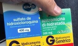 Cloroquina e azitromicina