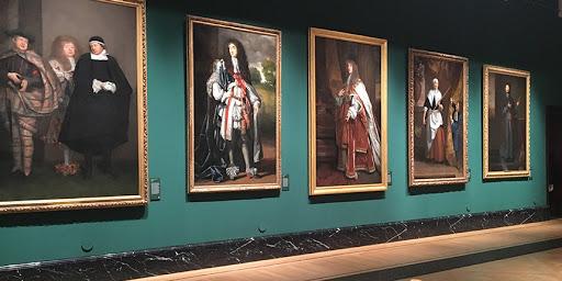 Obras de arte originais no palácio de Buckingham