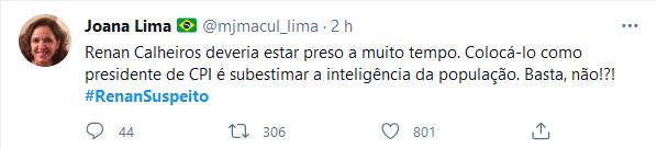 Web se une e denuncia Renan Calheiros na CPI: